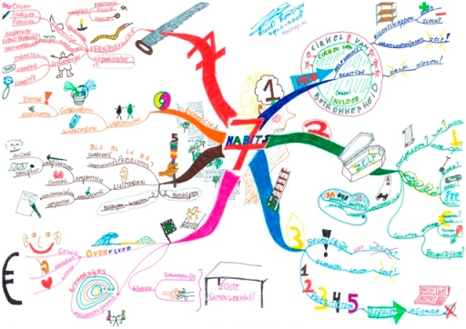 7 Habits-Stephen Covey door MindMap.nl