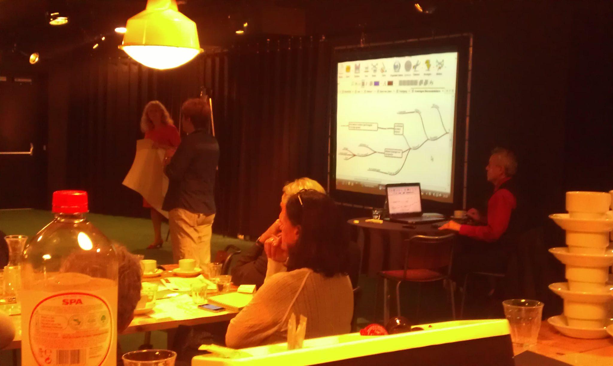Notuleren door Rudy Rensink van MindMap.nl tijdens een presentatie